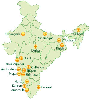 India-airport-map